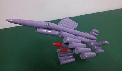 互动吧-DIY制作弹壳工艺品