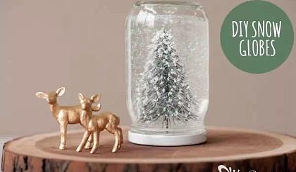 互动吧-DIY梦幻雪景玻璃瓶(团体活动)