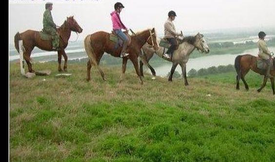 (上海1日活动,每日举行,预约报名)长途野外骑马+户外烧烤