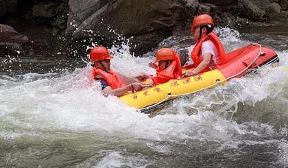 互动吧-【湿身之旅】相约嵊州百丈飞瀑 漂过崇山峻岭间激流 感受山谷河清凉