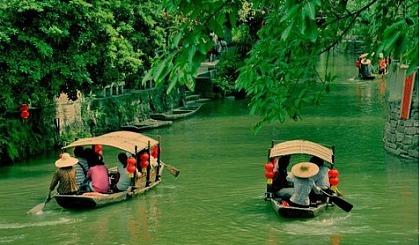 互动吧-佛山顺德周庄逢简水乡、游船、拜访清晖园、各类小吃