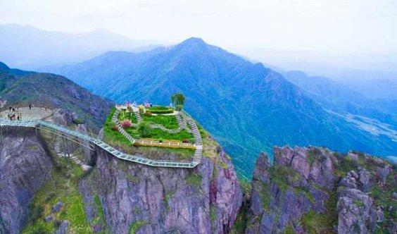 【清远金子山】登金子山惊险天梯·高空玻璃桥·赏绝美云海·每周六-周日一天游