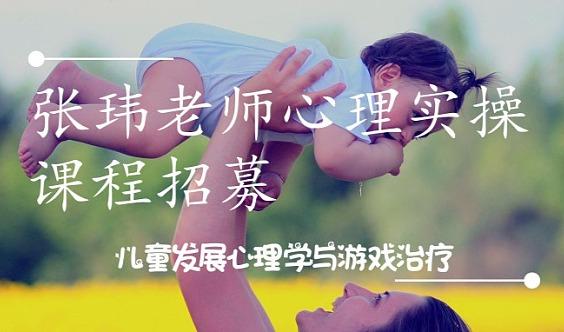 【儿童发展心理学&游戏治疗】张玮老师心理实操课程招募