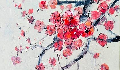互动吧-知和行书局第九期油画《腊梅》