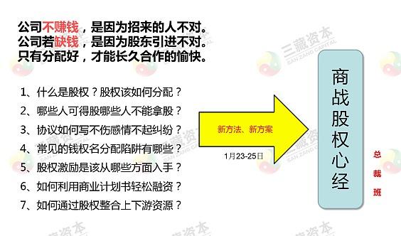 臧其超《股权顶层设计与股权激励》峰会(深圳站)