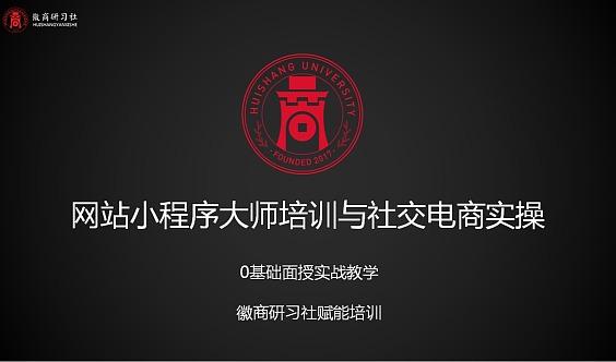 网站小程序大师培训与社交电商实操