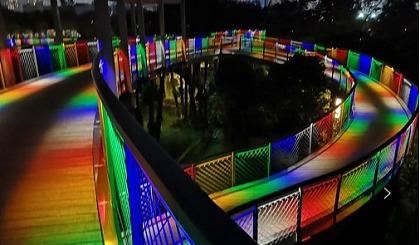 互动吧-相约深圳香蜜公园,打卡彩虹栈道。(多期)
